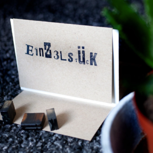 Folding Card | Einzelstück | Hand Stamped | ORIGINAL PRINT
