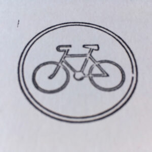 PRINT | Folding Card | Hand Stamped | DDR Bicycle