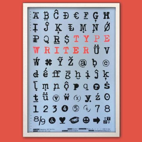 Type-Specimen_A3-Poster_Typewriter_Riso_Frame