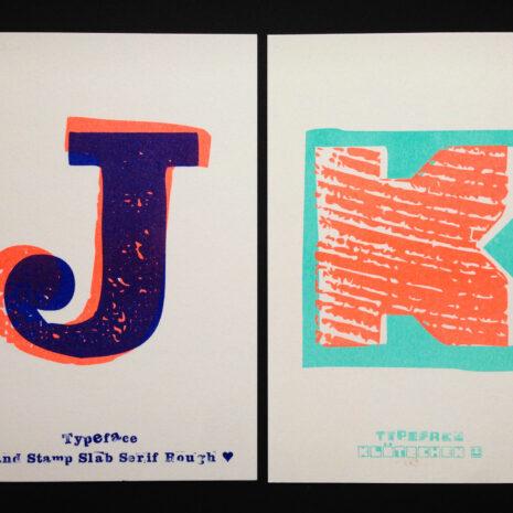 PRINT - Postcard - Riso - ABC Neon_by Typo Graphic Design__5650