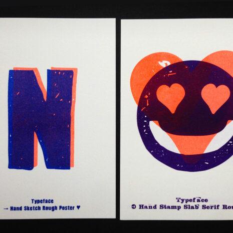 PRINT - Postcard - Riso - ABC Neon_by Typo Graphic Design__5655