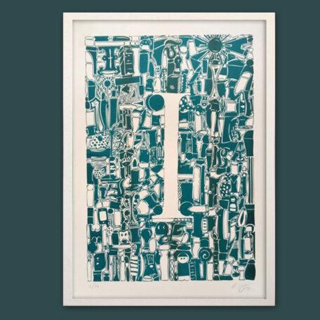 Typo-Illustration-Poster_I-Trajan_Riso-Print_by-Typo-Graphic-Design_Frame