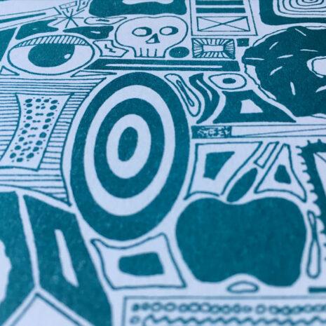 Typo-Illustration-Poster_O-Trajan_Riso-Print_by-Typo-Graphic-Design_Close-Up_3