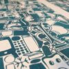 Typo Illustration Poster_P Trajan_Riso Print_by Typo Graphic Design_Close Up
