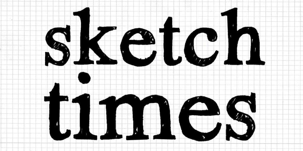 Font-Sample_Type-Specimen_Hand-Scribble-Sketch-Times_by_Typo-Graphic-Design_Manuel Viergutz_2