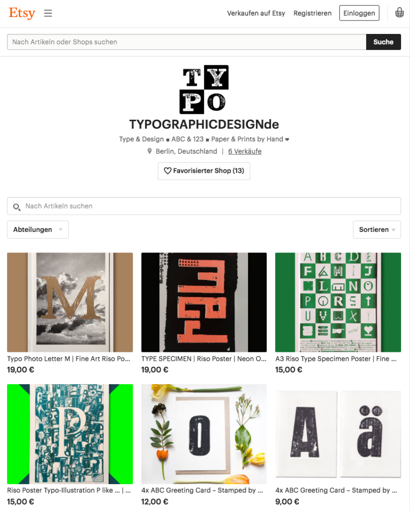 Typo Graphic Design_Manuel Viergutz by Etsy