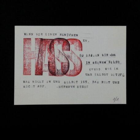 ORIGINAL-PRINT_A5_Hass_Hermann-Hesse_by-Typo-Graphic-Design_Manuel-Viergutz