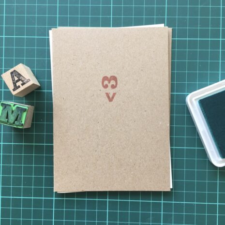 Folding Card | Mothers Day | Ascii Heart <3 | Hand Stamped | ORIGINAL PRINT