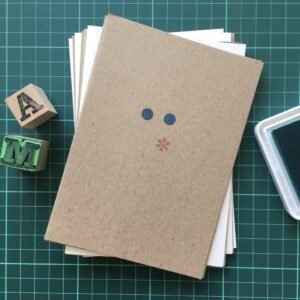 Folding Card | Mothers Day | Ascii Kuss | Hand Stamped | ORIGINAL PRINT