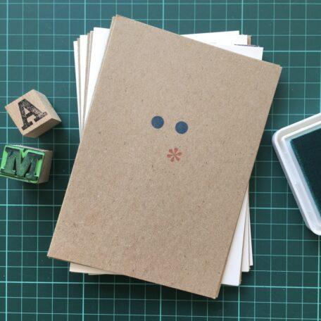 Folding Card | Mothers Day | Ascii Kuss | Hand Stamped | ORIGINAL PRINT