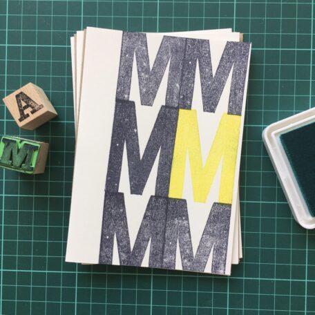 Folding Card | Mothers Day | MMMMMM | Hand Stamped | ORIGINAL PRINT