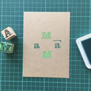Folding Card | Mothers Day | MaMa | Hand Stamped | ORIGINAL PRINT