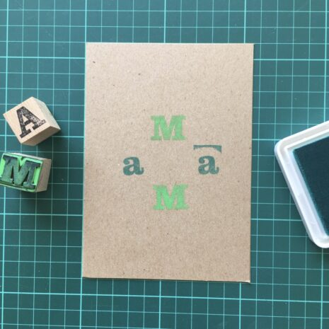 Folding Card   Mothers Day   MaMa   Hand Stamped   ORIGINAL PRINT