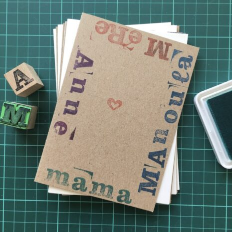 Folding Card | Mothers Day | mama-Manoula_MeRe_Anne | Hand Stamped | ORIGINAL PRINT