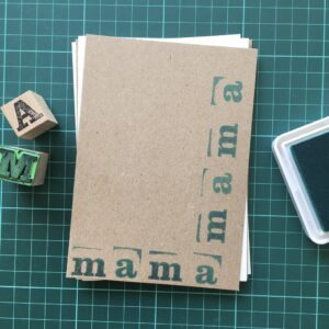 Folding Card | Mothers Day | mamamama | Hand Stamped | ORIGINAL PRINT