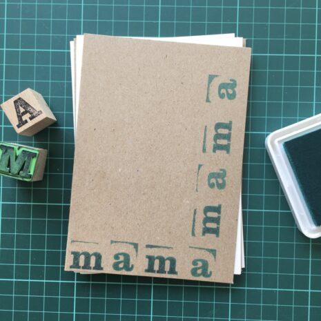 Folding Card | Mothers Day | mamamama | Hand Stamped | ORIGINAL PRINT