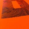 A4 | Wood DIY | Neon Orange O | Close Up | Original Print