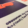 Type Specimen_Poster_A3_Riso_Hand Print Stamp Rough_Close-Up_2598