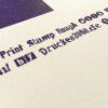 Type Specimen_Poster_A3_Riso_Hand Print Stamp Rough_Close-Up_2600