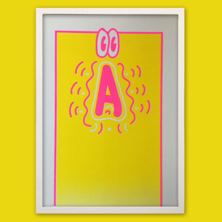 Typo Poster_Freestyle A with Eyes_Riso Print