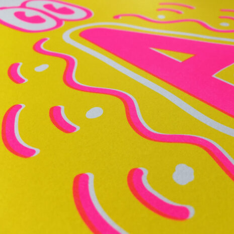 Typo Poster_Freestyle A with Eyes_Riso Print_Close-Up_2