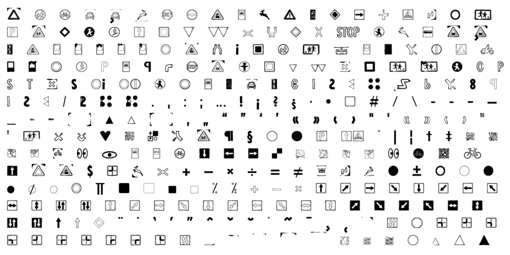 GDR-Traffic-Symbols_5_font-sample