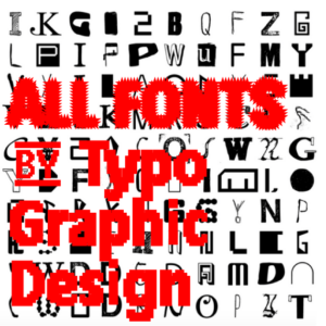 ALL FONTS IN ONE | Complete Font Library | All Typefaces from the Typo Graphic Design font foundry_1