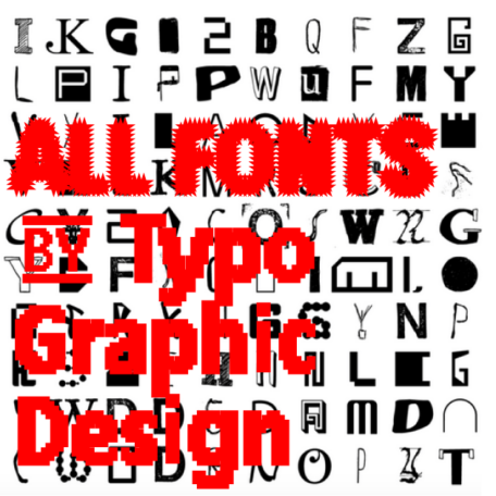 ALL FONTS IN ONE   Complete Font Library   All Typefaces from the Typo Graphic Design font foundry_1