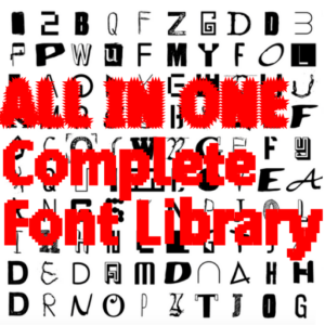 ALL FONTS IN ONE | Complete Font Library | All Typefaces from the Typo Graphic Design font foundry_2