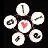 Typo-Girlanden-Garlands-Hand-Stamped-DIY-Hello-Wood-Letter-Old-Vintage-Retro-Rough-Black-Red-Round-Heart-Love-by-Typo-Graphic-Design-Viergutz-Circle